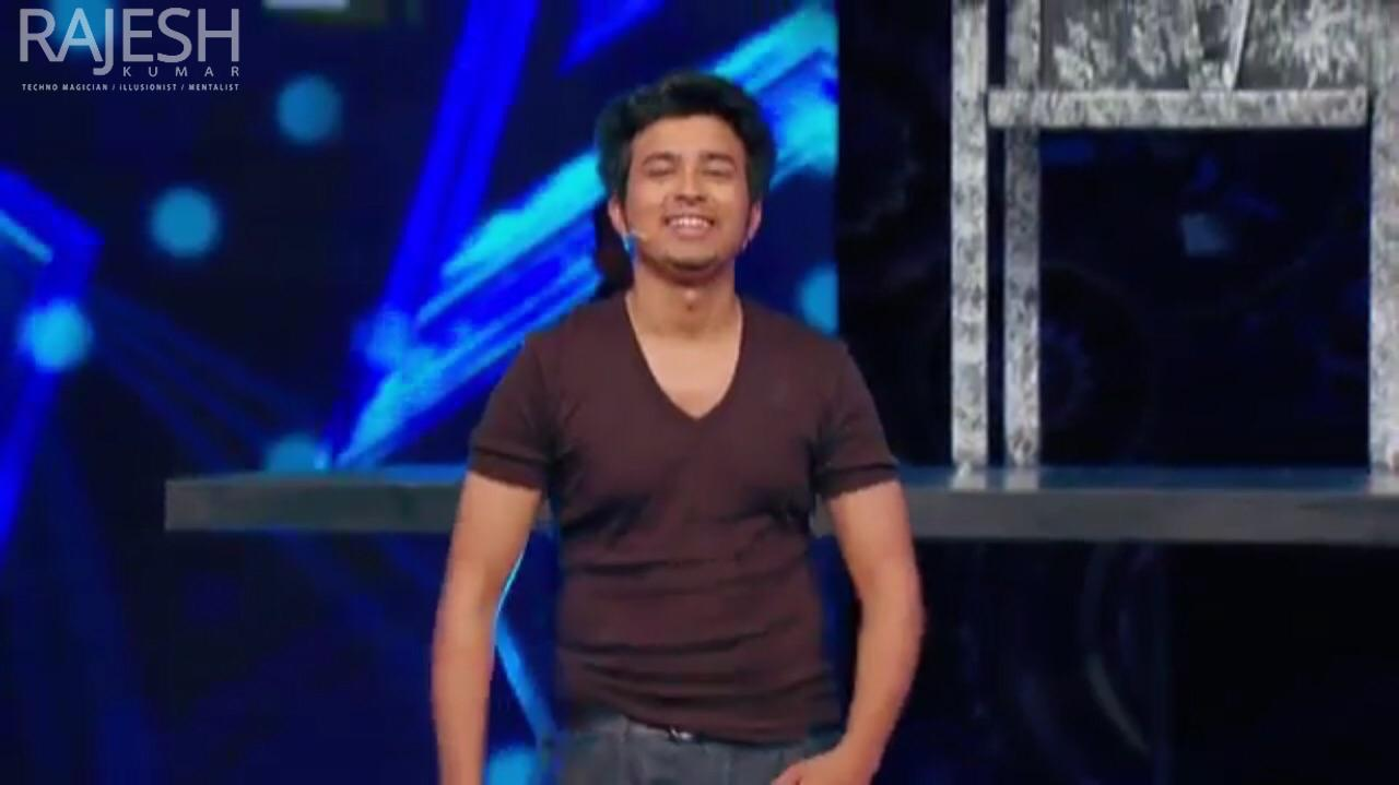 Mumbai based magician / illusionist / mentalist Rajesh Kumar on India's got talent season 6 2015