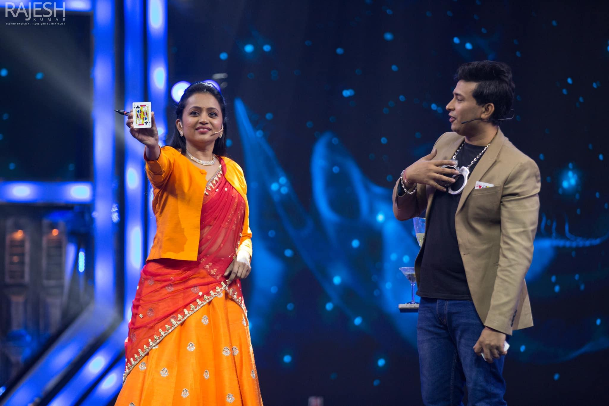Magician Illusionist Rajesh kumar performs for zee telugu big celebrity challenge 2021