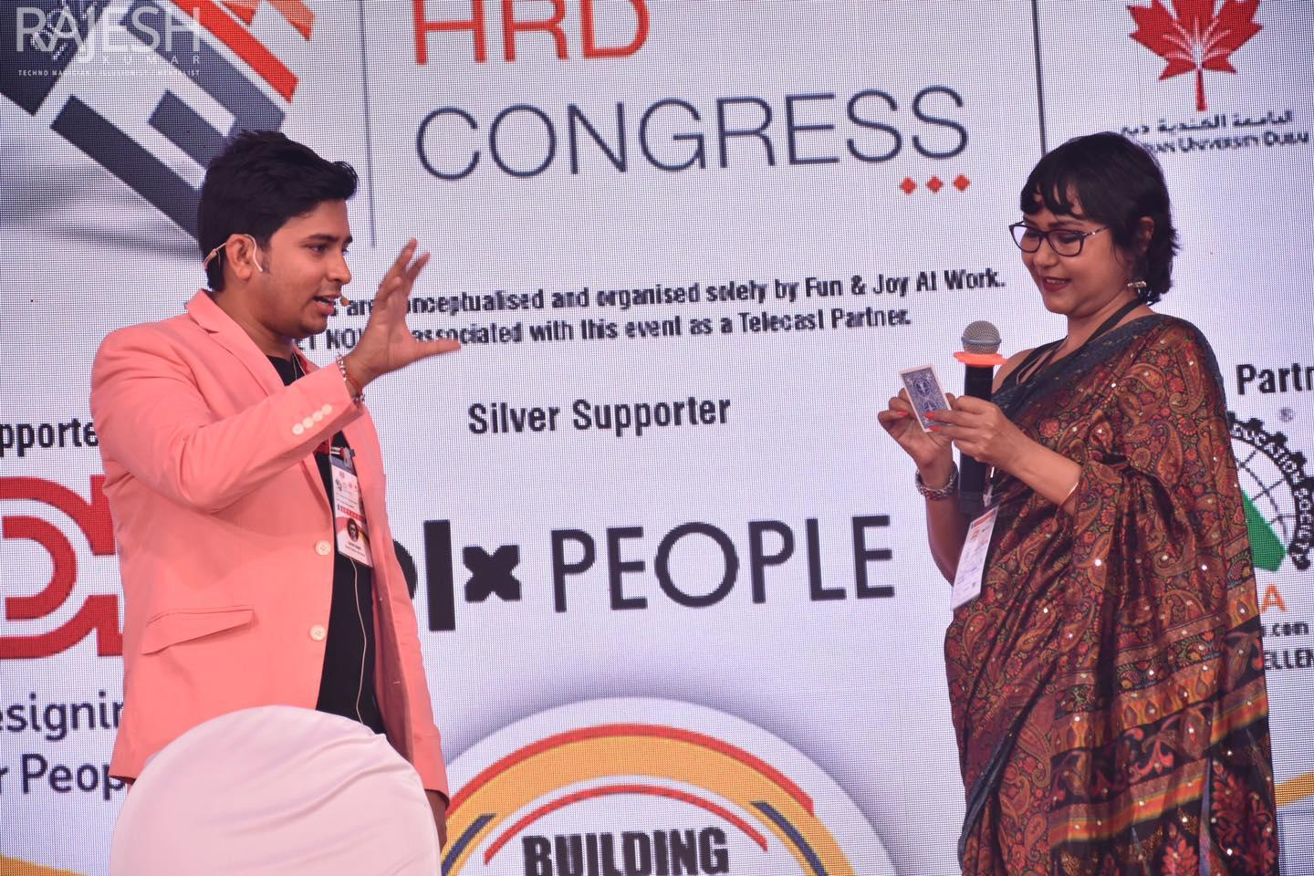 Magician illusionist Rajesh kumar at World HRD Congress 2020